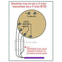 مقاومت RTD سه سیمه چگونه حذف می شود