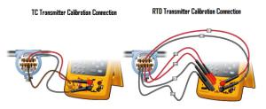 تست ترموکوپل و RTD با استفاده از کالیبراتور