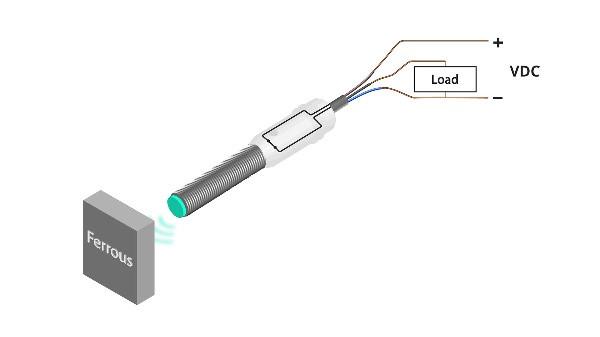 Three-wire induction sensor